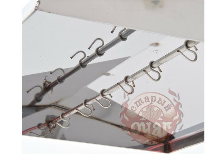 Коптильня Крышка Домиком с гидрозатвором для горячего и холодного копчения